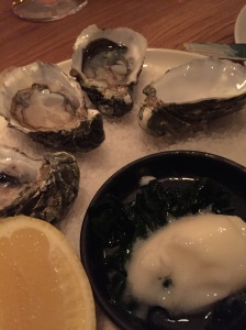oysters with chardonnay vinegar sorbet
